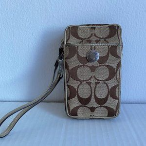Brown Coach Cell Phone Holder